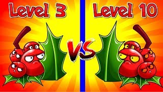 Plants vs Zombies 2 Compare Holly Barrier level 3 vs Max Level 10 - Check it Out NOW!