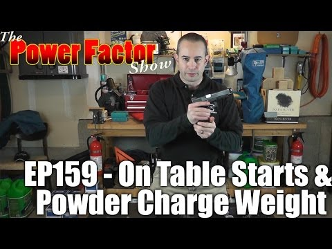 Episode 159 - Start Positions On Table Start & Powder Charge Weight