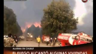 Canal 26 -El incendio está fuera de control en Epuyén y El Hoyo