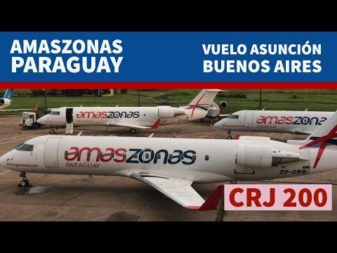 Vuelo de Amaszonas entre Asuncion y Buenos Aires (AEP)