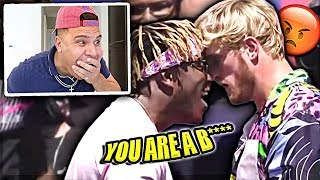 REACTING TO KSI VS LOGAN PAUL 2 PRESS CONFERENCE *WHO I'M FIGHTING*