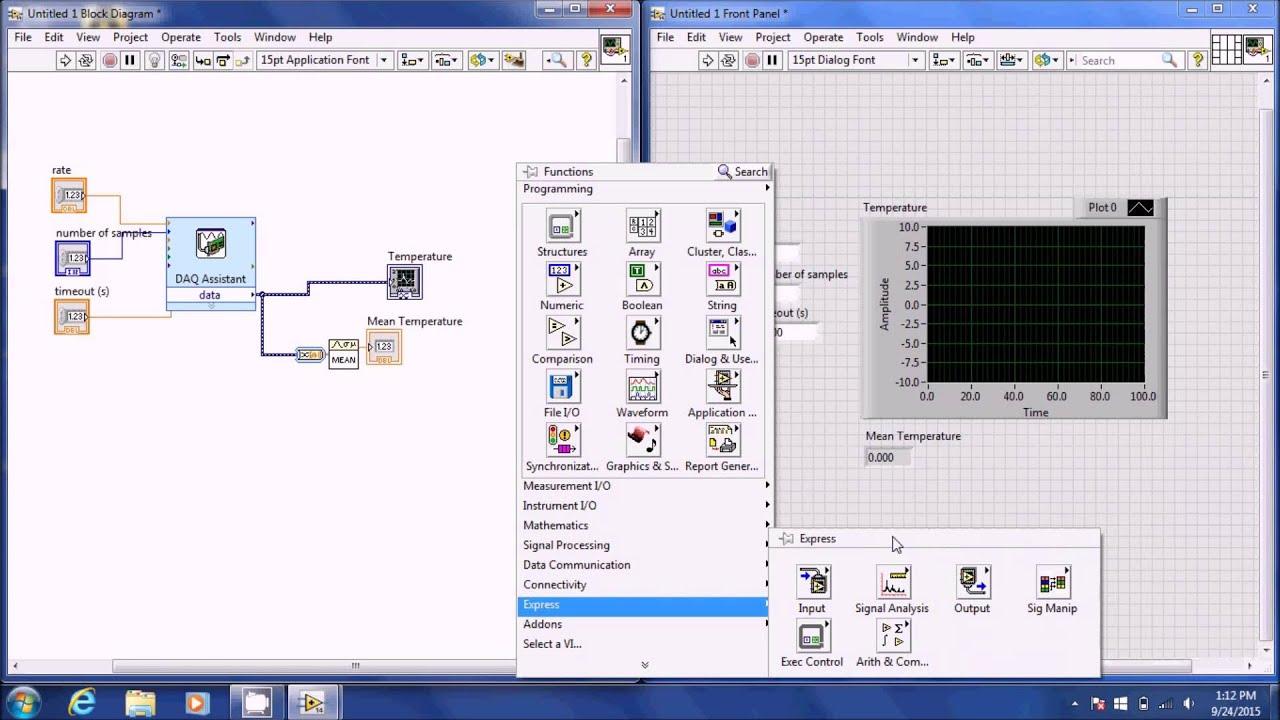 Measurements I - Using the Modular Thermocouple DAQ LabView
