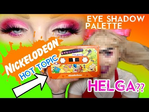 90s NICKELODEON Eyeshadow Palette & Giving myself a UNIBROW?