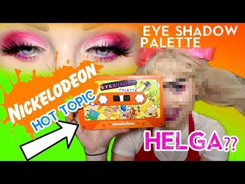 90s NICKELODEON Eyeshadow Palette & Giving myself a UNIBROW?? Glam & Helga