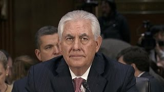 Questions on Russia dominate Rex Tillerson