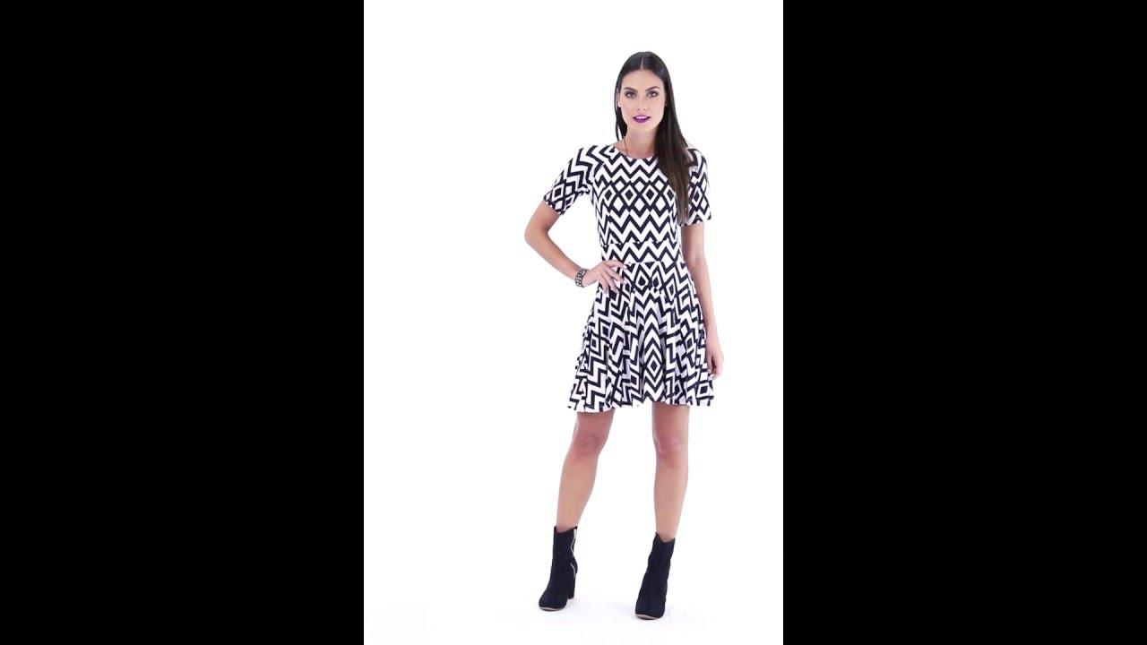 Vestido zig zag - Quintess | Posthaus - YouTube