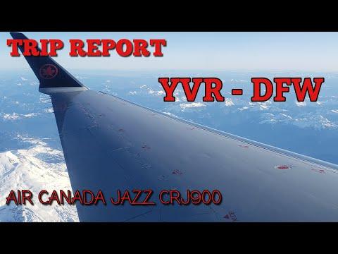TRIP REPORT - Air Canada Express (Jazz Aviation) CRJ 900 LR Vancouver To Dallas