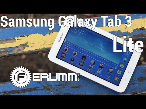 Samsung Galaxy Tab 3 Lite T-110 обзор. Подробный видеообзор Samsung Galaxy Tab 3 Lite от FERUMM.COM