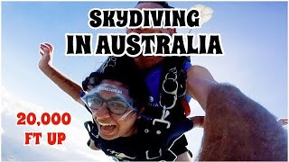I WENT SKYDIVING FROM 20,000 FT IN THE AIR! (vlog in australia)