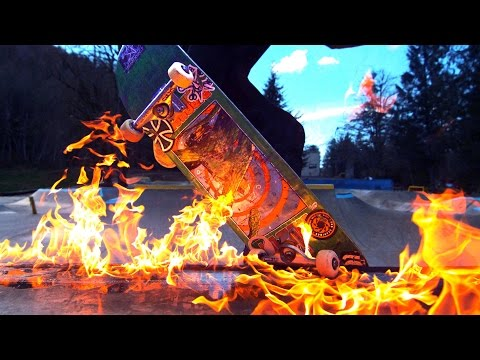 Skateboarding on FIRE in the RAIN (BURN 2)