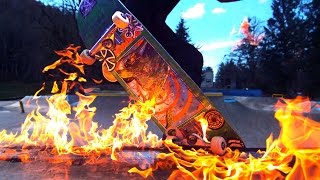 Skateboarding On FIRE In The RAIN BURN 2