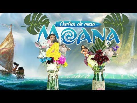 Centro de mesa Moana facil y bonito (Centerpiece Moana)