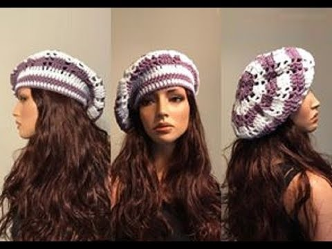 How to Crochet a Beret Hat Pattern #578│by ThePatternFamily