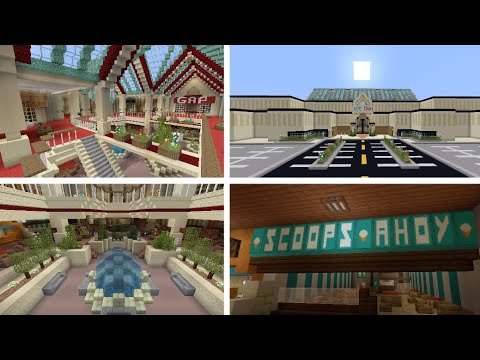 Minecraft Ps4 Stranger Things Season 3 Starcourt Mall Build Youtube