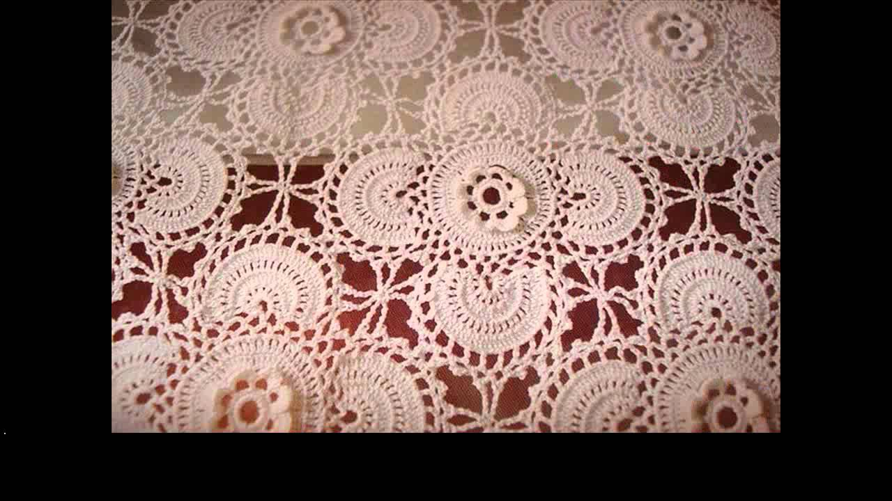 Crochet Tablecloth Rectangle Youtube