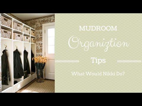 Mud Room Organization Tips