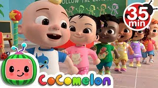 Follow the Leader Game + More Nursery Rhymes \u0026 Kids Songs - CoComelon