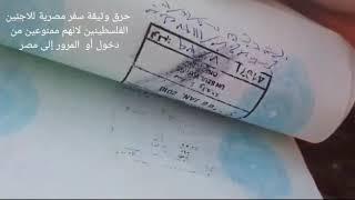 فلسطيني لاجئ يحرق وثيقة سفر مصرية للاجئين الفليطينين