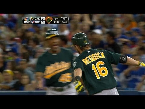 Reddick hits three homers, drives in five