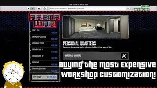 GTA Online Arena War DLC Buying The Most Expensive Workshop Customization And First Event
