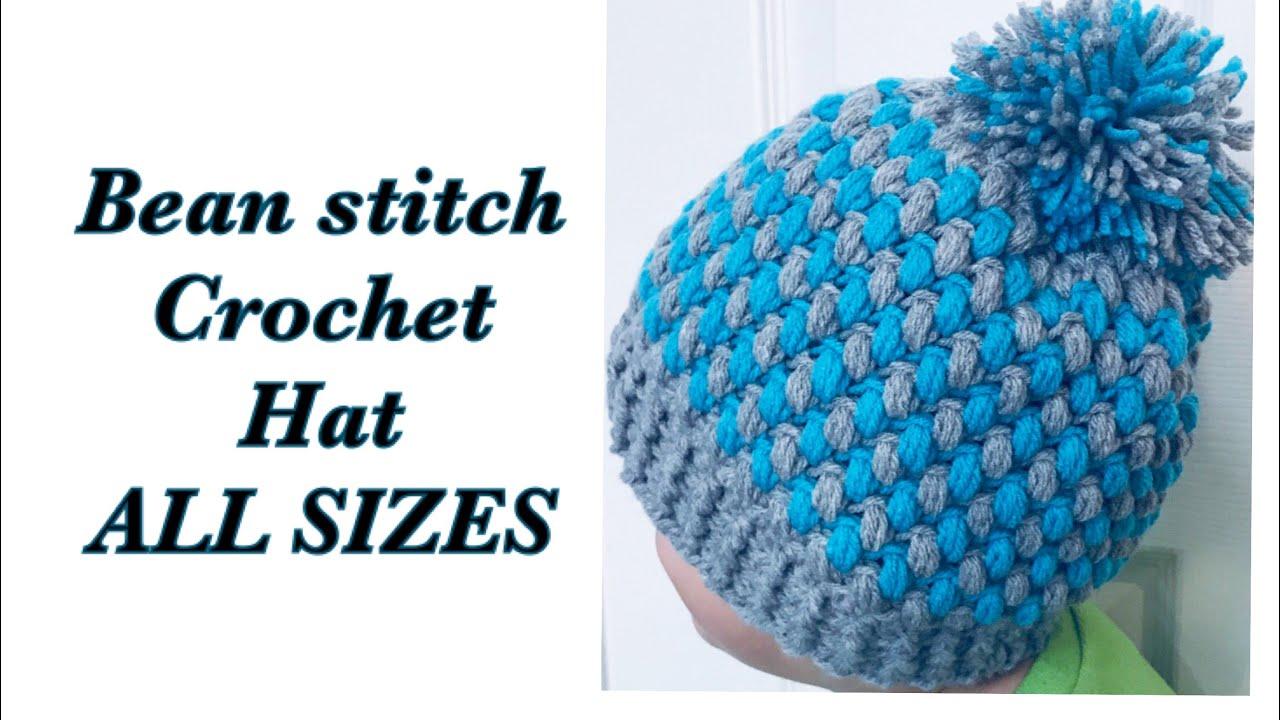 3a8e2d24fc9 LEFT Bean stitch crochet beanie winter hat