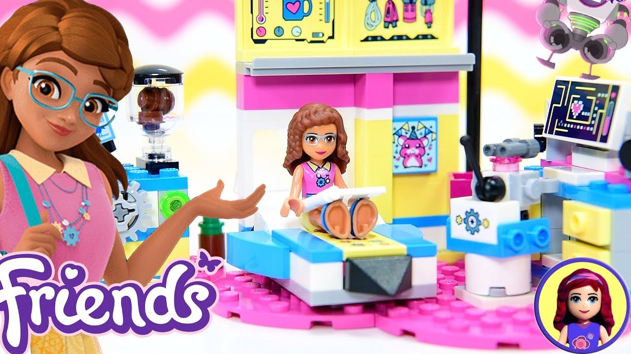 Room 2 Build Bedroom Kids Lego: Lego Friends Olivia's Deluxe Bedroom Build Review Silly