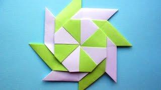 Сюрикен из бумаги. Звезда оригами - трансформер
