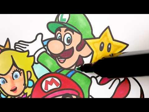 SUPER MARIO BROS. Coloring Set   Nintendo Switch Coloring Book
