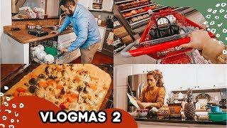 GROCERIES, CLEAN, & COOK WITH US  | Vlogmas 02