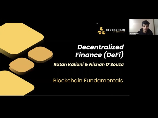 Lecture 9 - Decentralized Finance