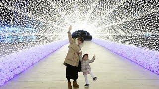 신기하게 반짝이는 별빛 축제를 다녀왔어요!! 서은이의 덕평 휴게소 별빛 축제 달 궁전 토끼 루돌프 Star Light Festival