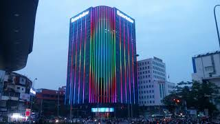 Trang trí chiếu sáng tòa nhà Eurowindow4 PHU THANH LED