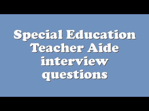 interview questions for special education teacher
