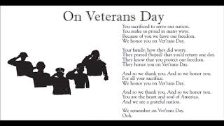 On Veterans Day lyrics only