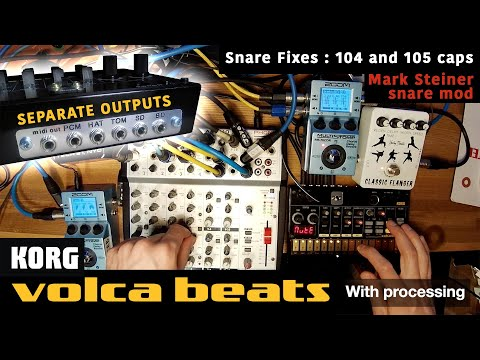 Korg VOLCA BEATS with SEPARATE OUTPUTS and SNARE mods