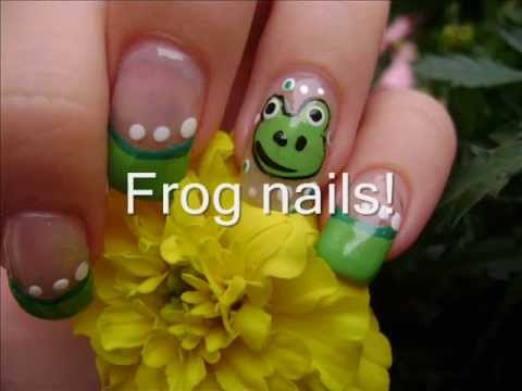 frog nail art tutorial