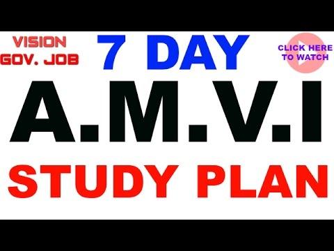|| AMVI RTO study plan ||