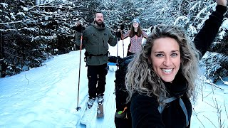 CROWN LAND Backcountry Skiing | Lunch on the Border of ALGONQUIN PARK