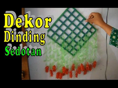Kreasi Hiasan Dekorasi Dinding dari Sedotan | Kerajinan ...