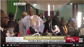 Nigeria President warns Cabinet against corruption
