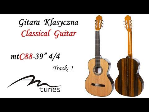 "Classical guitar 4/4 39"" M-tunes MTC88 video"