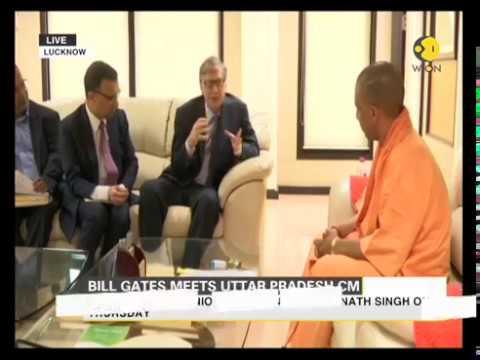 Microsoft Founder Bill Gates meets UP CM Yogi Adityanath in Lucknow