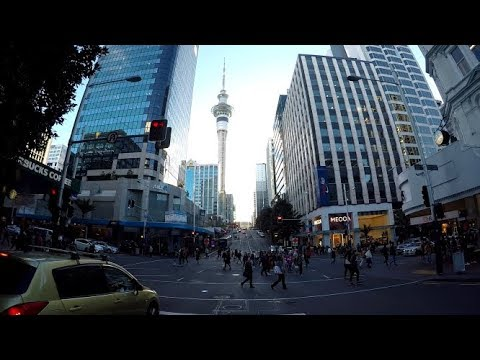 Drive Around Auckland City NEW ZEALAND - Epidemic Sound -Osmo Action - Gopro