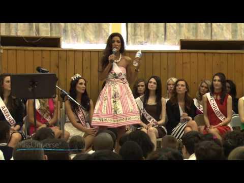 Sahar Biniaz Miss Universe Canada in Memory of Amanda Todd and reena virk.