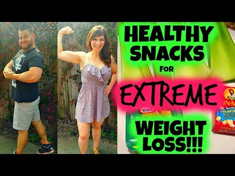 THE ACTUAL HEALTHY SNACKS WE ATE TO LOSE 130 POUNDS EACH!!