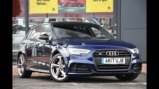 Used Audi A3 S3 TFSI Quattro Black Edition 5dr S Tronic Blue 2017