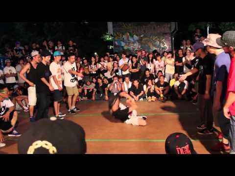 Bboy Park 2012 - Show Own Color (ft Scramble) vs Rhythm Sneakers - Tokyo, Japan - Aug 2012