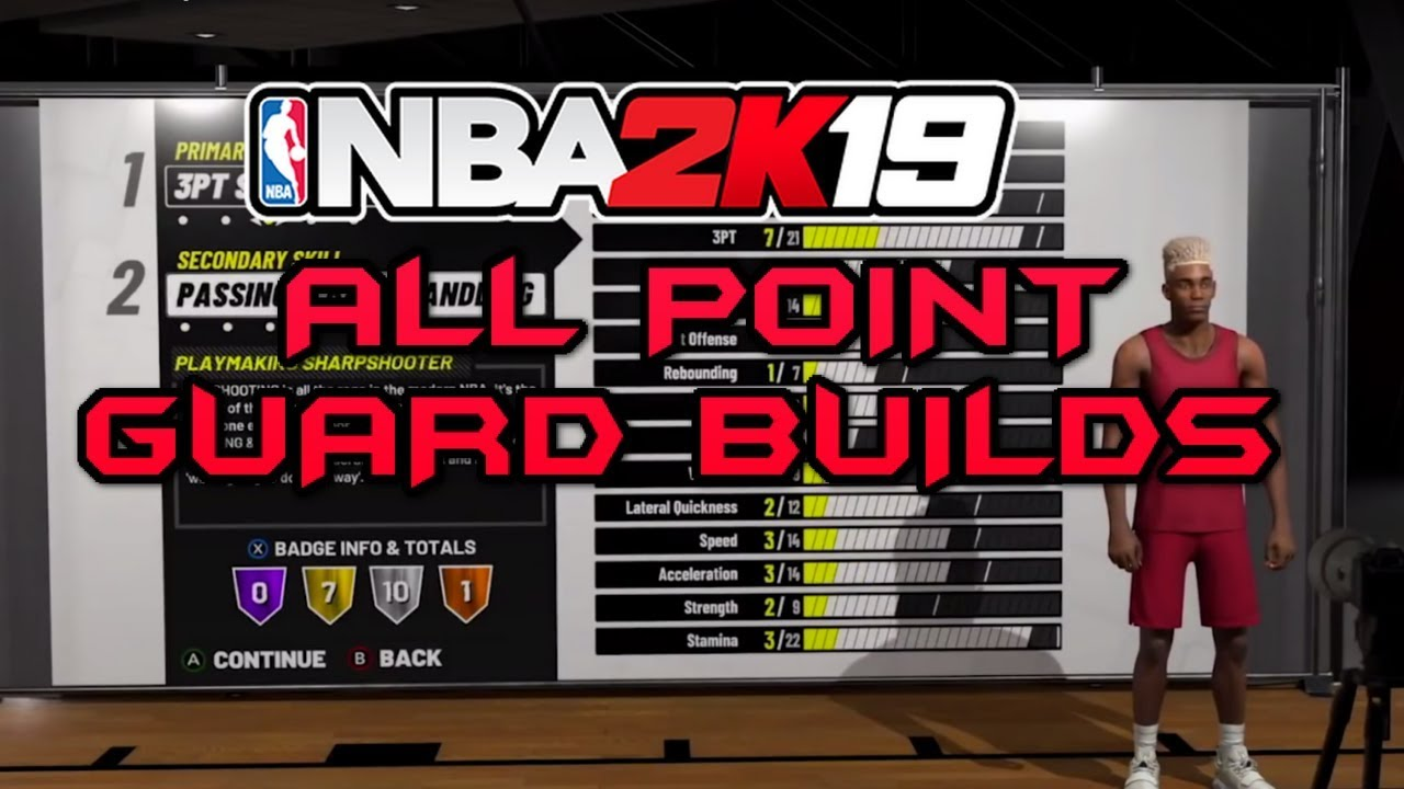 NBA 2K19 ALL POINT GUARD BUILDS - BADGES AND ATTRIBUTES