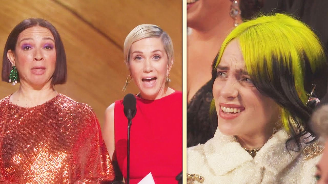 Watch Billie Eilish REACT to Kristen Wiig and Maya Rudolph's Wild Oscars Bit