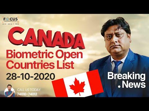 Canada Biometric Start Countries List
